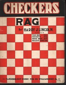 Checkers-Rag-1913-Harry-J-Lincoln-Large-Format