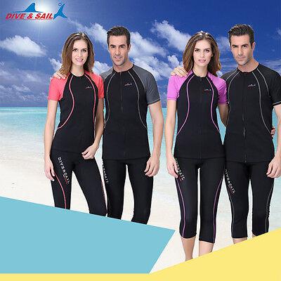 1.5mm Neoprene Scuba Snorkeling Suit dive Tops Shorts Sleeve Diving Tops