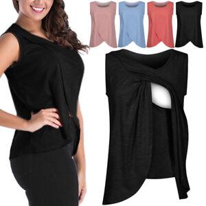 365f9e175 Image is loading Summer-Women-Tops-T-Shirt-Maternity-Nursing-Breastfeeding-