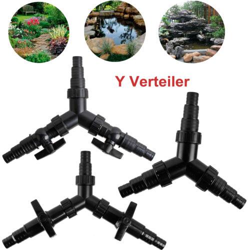 3-Wege Y-Verteiler Wasserverteiler Schlauchverbinder Teichschlauch 20//25//32//38mm