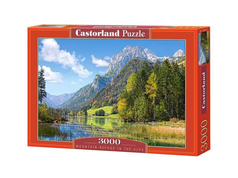 Castorland puzzle 3000 stcke - htten - 36 x 27  versiegelte kiste c-300273
