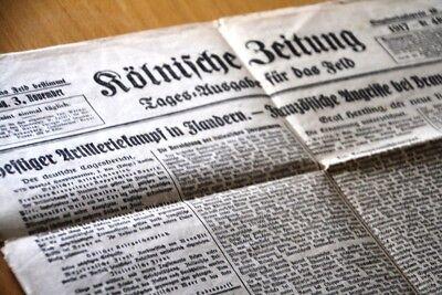 Zielsetzung Kölnische Zeitung / Tagesausgabe Für Das Feld / 1917 Original AusgewäHltes Material