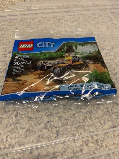 LEGO CITY POLYBAG WITH FEMALE GIRL MINIFIGURE JUNGLE ATV CAR 30355 BUILDING TOY
