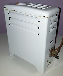 Vintage Porcelain Enamel Gas Heater Bathroom Bedroom