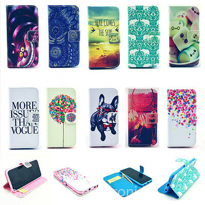 Stand Wallet Flip PU Leather Card Case Cover For Apple iPhone Samsung Note Nokia