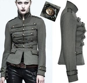 Veste-jeans-cintree-gothique-punk-lolita-militaire-officier-galons-mode-PunkRave