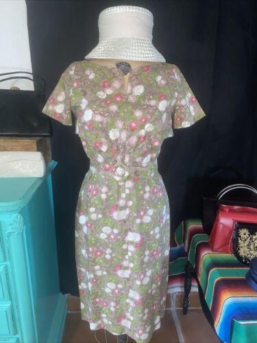 VINTAGE  1950's OR 60's  HANDMADE DRESS Brocade Fa