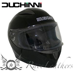 Duchinni D705 Uni Noir Brillant Intégral Moto Pas Cher Casque Ebay