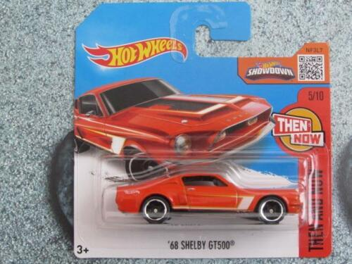 Hot Wheels 2016 #105//250 1968 Shelby GT500 Orange alors et maintenant Case F