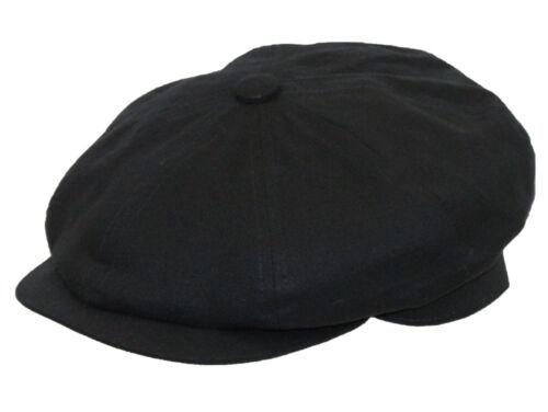 Adults 8 Panel Gatsby Linen Summer Bakerboy Newsboy Style Flat Cap