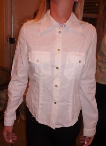 Contatto Italian button down white stretch cotton