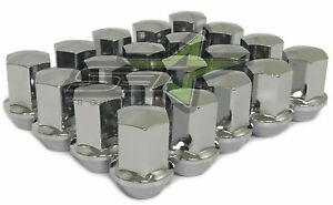 20pcs 2.32 Chrome 9//16-18 Wheel Lug Nuts fit 1996 Dodge Ram 2500 May Fit OEM Rims Buyer Needs to Review The spec