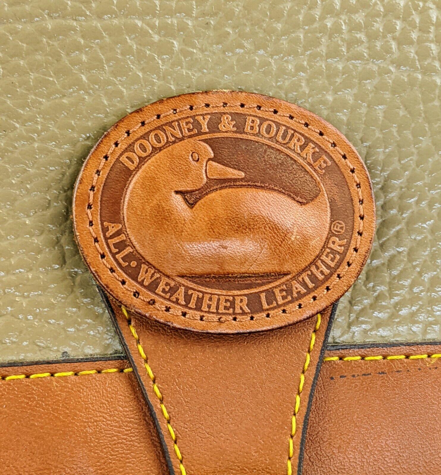 Dooney & Bourke Tan Brown Small Purse Handbag Tra… - image 3
