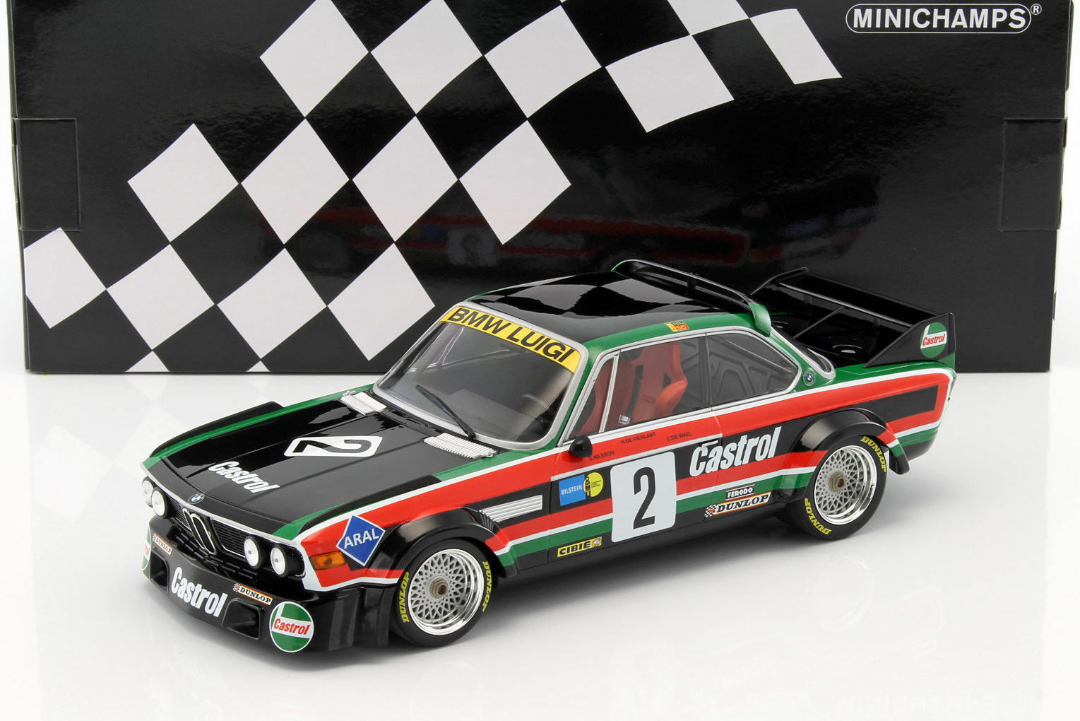 BMW 3.0 CSL  2 Luigi Winner Voiture 1976 Limited 804pc 1 18 MINICHAMPS 155762502