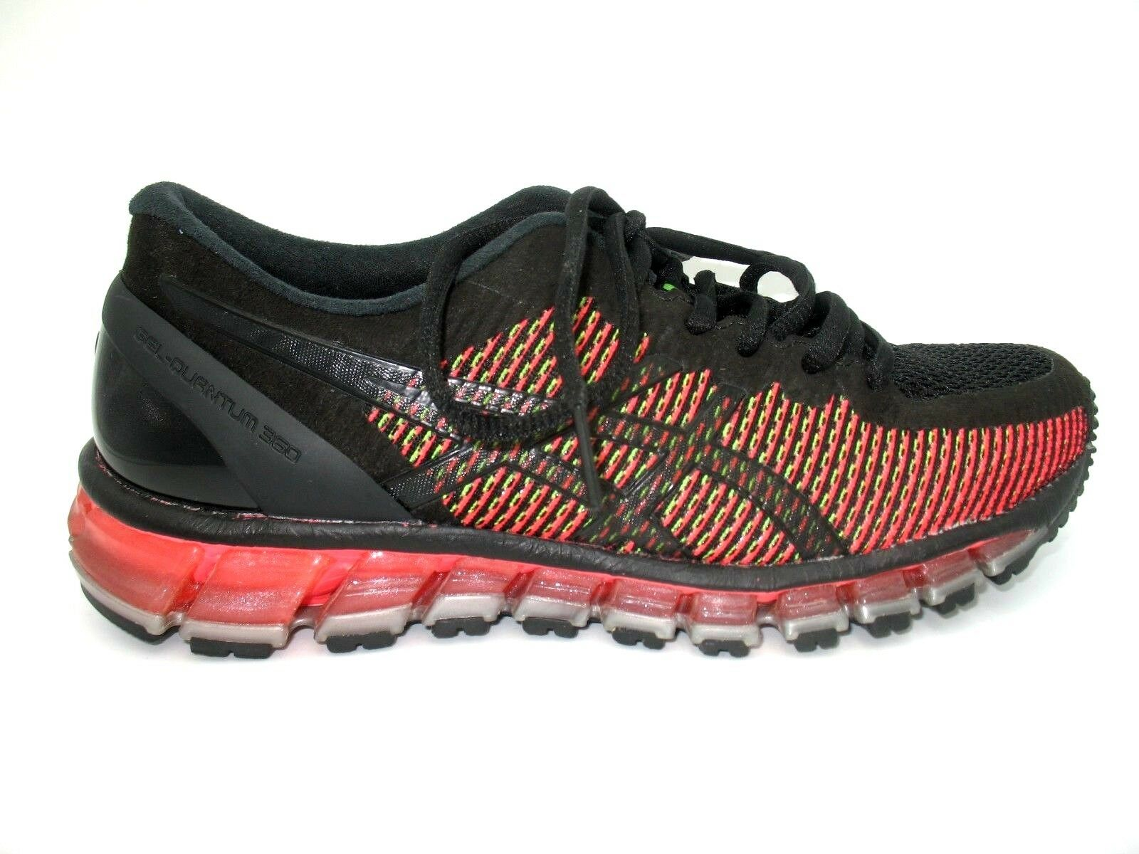 Asics Gel Quantum 360 Black Red Running Athletic Training shoes Womens Sz 7M