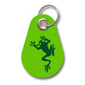 Samunshi Schlüsselanhänger Kletternder Frosch aus Filz  12 Farben 9,5x6,5cm