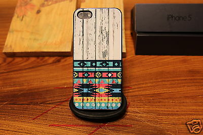 Wood Native American / Tribal Aztec / Indian Pattern/ Apple Iphone 4 4s / 5 Case