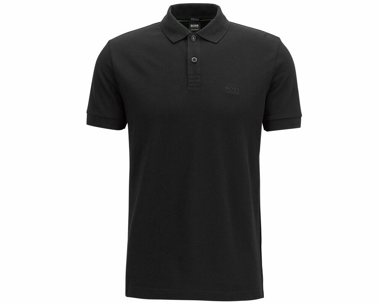 Hugo Boss Piro 50388956 001 Pima Cotton Mens Polo Shirt schwarz Top
