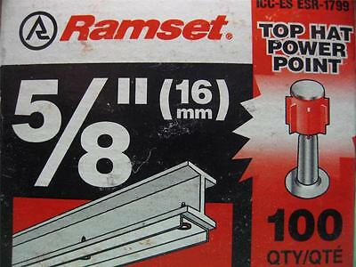 300 ITW RAMSET SP58TH 5//8 TOP HAT DRIVE PIN POWER POINT CONCRETE ANCHOR FASTENER