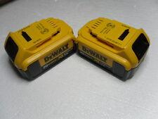 (2) New GENUINE Dewalt 20V DCB204 4.0 AH MAX XR Battery Pack Li Ion w/Fuel Gauge