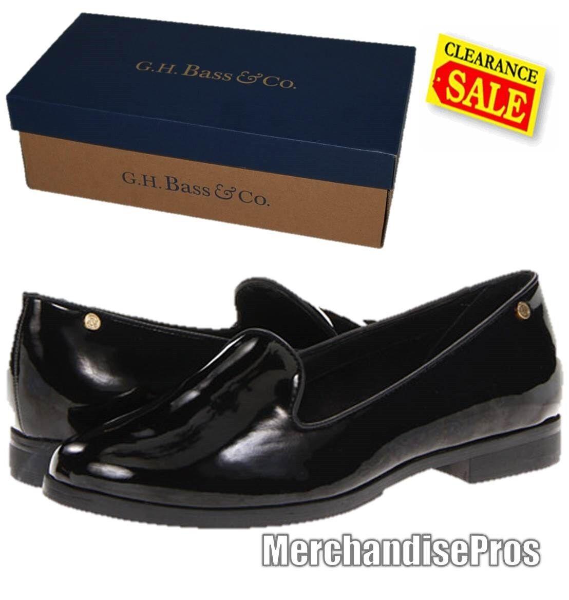 WOMEN'S BASS LUCILLE SLIP-ON BLACK LOAFERS Schuhe 8M & GOLD TOE SOCKS BUNDLE NEU