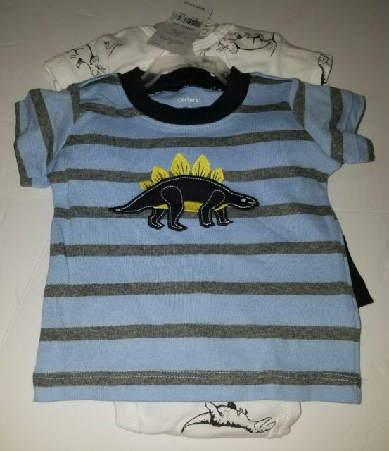 21450c4ce NWT Baby Boy CARTERS 3 Piece Dinosaur Boydsuit Top and Shorts Outfit Size 6M