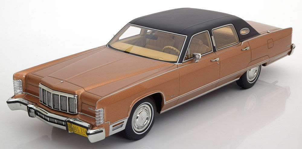 BoS 1975 Lincoln Continental Town Car Brown Met LE of 1000 1 18 Rare Find New