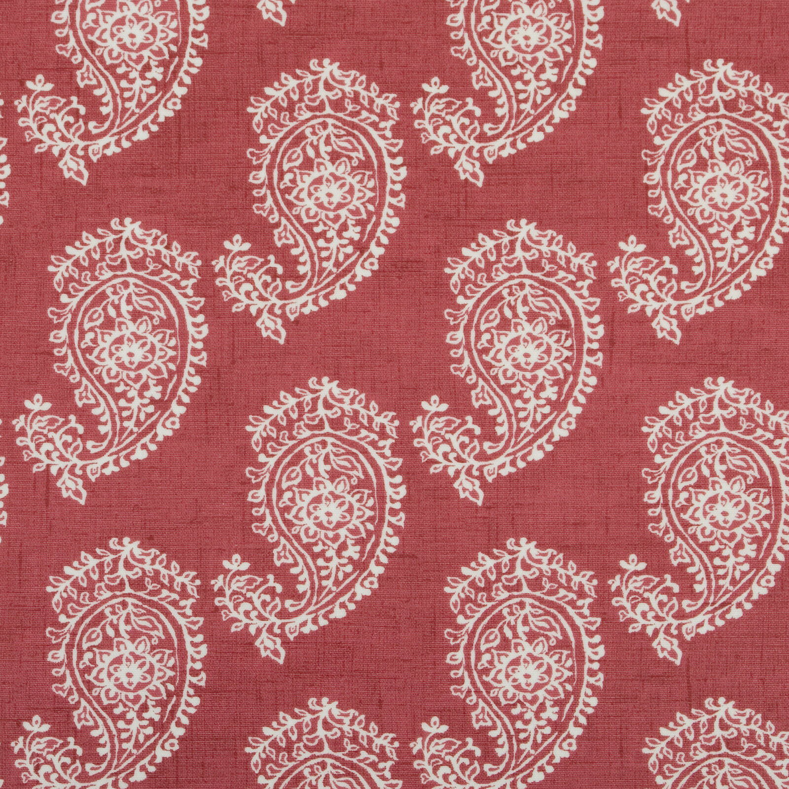 Raspberry Red Paisley Wipeclean PVC Oilcloth Tablecloth Multiple Sizes