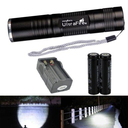 New UltraFire 10000LM Tactical Waterproof 18650 T6 Flashlight Lamp Torch Light