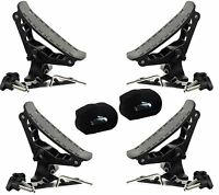 Ruk Combi Rack Roof Carrier Pads - Kayak Or Canoe - Includes 4 Pads And 2 Straps