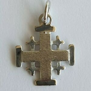 Jerusalem Cross Pendant - 14K Gold Cross - Solid Gold Cross - Crusaders Cross