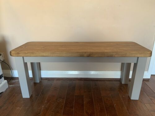 Handmade Wooden Rustic Style Farmhouse Dining Benches Seat Chair Coffee Table