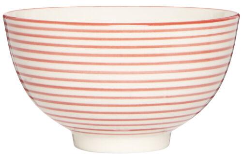 IB Laursen des céréales Coque porcelaine vintage bande rouge 12 cm
