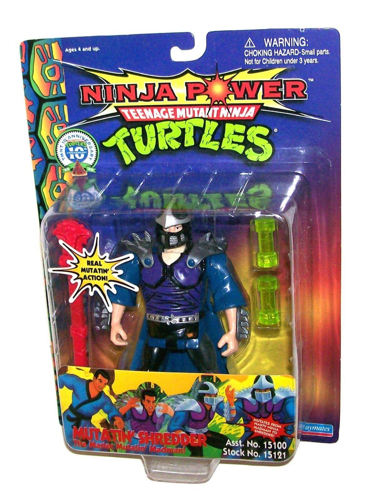 TMNT 10 ANNIVERSARY NINJA POWER TEENAGE MUTANT NINJA TURTLES MUTATIN' SHREDDER
