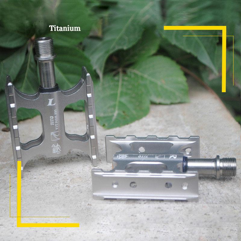 Titanium Mini Axle Pedal Sealed DU Bearing Bicycle Pedal  Anti Slip For BMX MTB