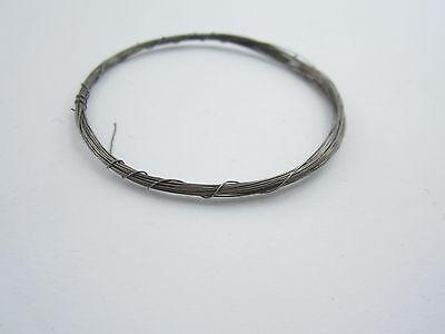 1 metro filo in argento 925 brunito nero diametro  0,35 mm made in italy