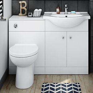 Image Is Loading 1150mm Toilet And Sink Vanity Unit Bathroom Basin