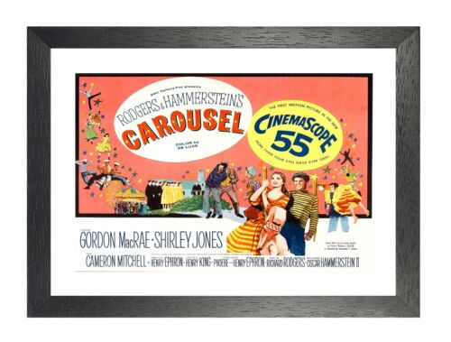Carousel Movie Old Vintage Film Advert Gordon MacRae Shirley Jones Retro Poster