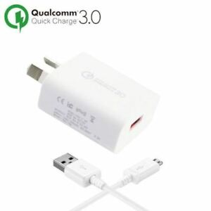 Qualcomm-3-0-Quick-Adaptive-Fast-Wall-Charger-USB-2-0-Cable-Galaxy-S7-S6-Note-5