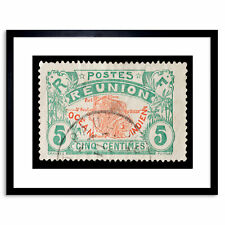Postage Stamp Hungary Sheep Dog 12X16 Inch Framed Art Print