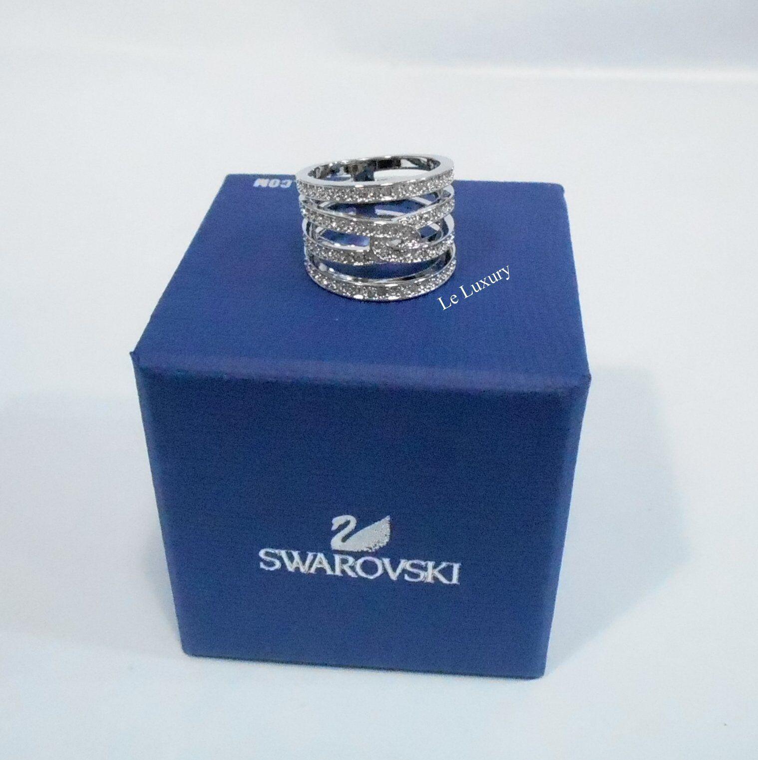 Swarovski Creativity Ring Size S 52 Rhodium-plated Clear crystal MIB 5139652