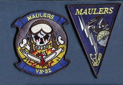 VS-32 MAULERS US NAVY LOCKHEED S-3 VIKING ANTI SUBMARINE Squadron Patch Set