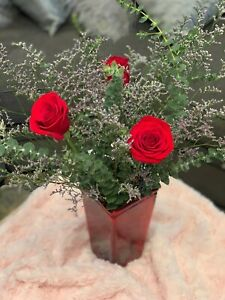 Fresh Flower Valentine's/Galentine's Day Bouquet For Her, Roses & Eucalyptus