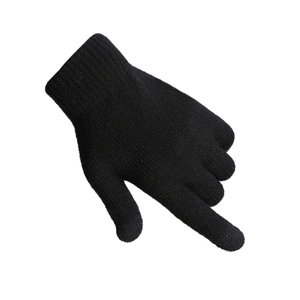 1 Pair Knitted Screen Touch Thicken Anti-slip Fashion for Skiing
