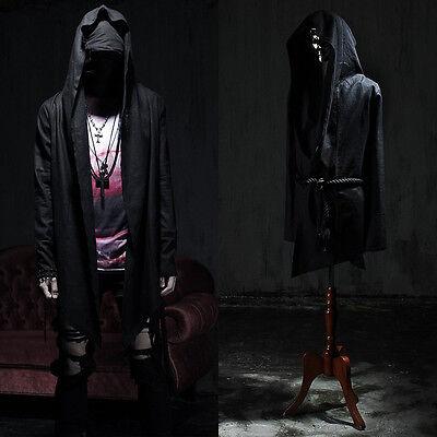 BytheR Linen Rope Medieval Hood Coat Rock Chic Punk Emo P0000UVN CA