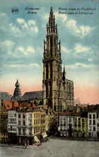 ANVERS Antwerpen CPA 1910/20 Color Teilansicht Grand Place Cathédrale Dom Kirche