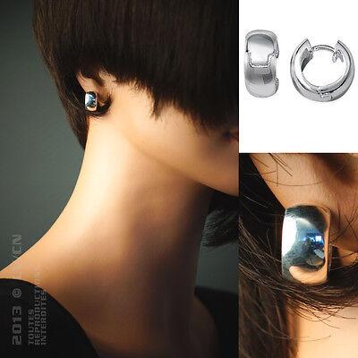 Boucles d'oreilles CREOLES 15mm en ARGENT 925 - Neuves