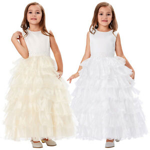 Layers Flower Girl Princess Bridesmaid Wedding Pageant Party Birthday Dresses
