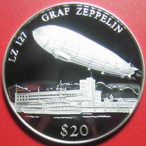 2000-LIBERIA-20-SILVER-PROOF-034-LZ-127-GRAF-ZEPPELIN-034-BLIMP-w-COA-4429-RARE-COIN