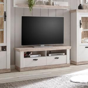 Details Zu Tv Board Florenz Lowboard Fernsehunterschrank Unterschrank In Oslo Pinie Weiss